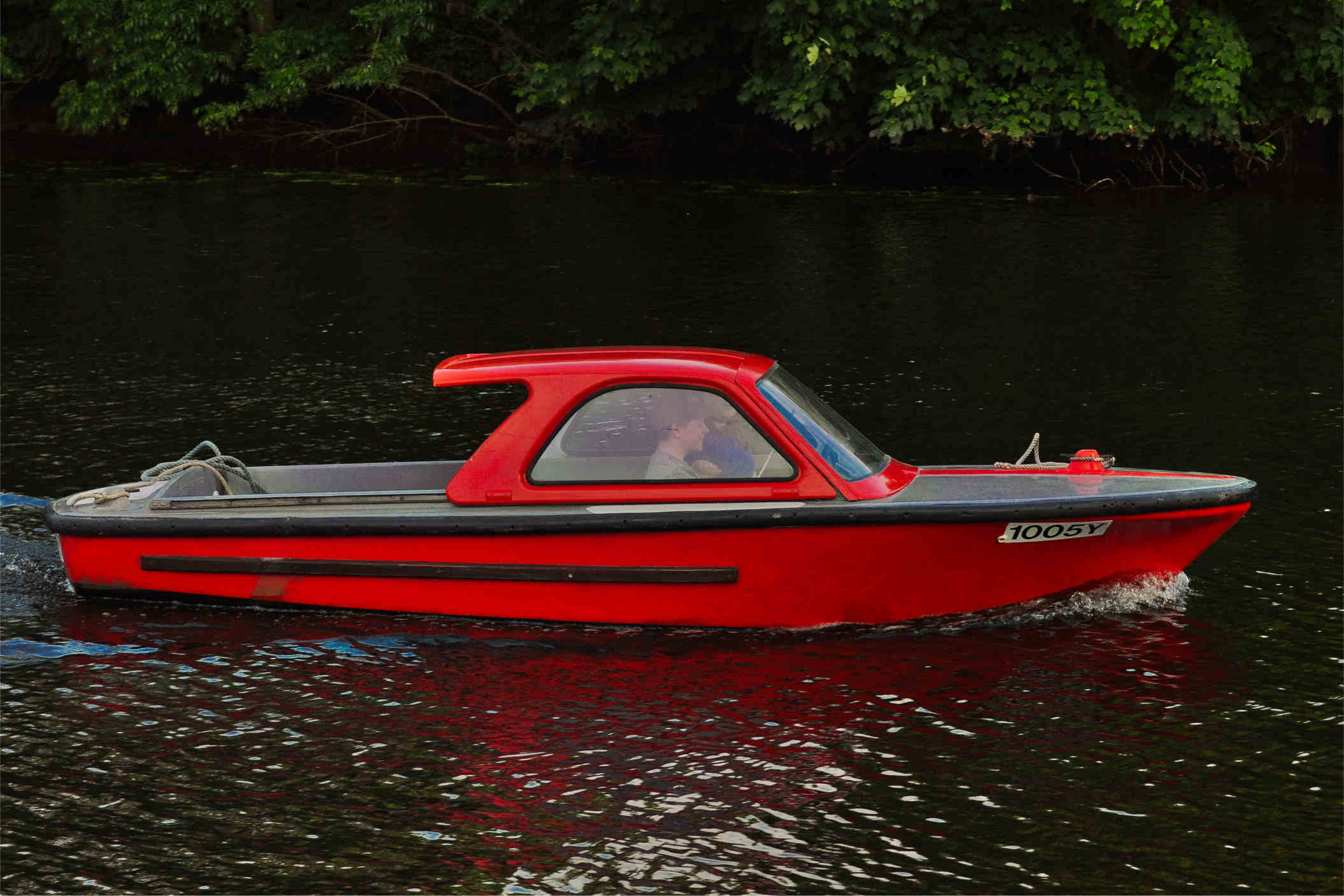 Silent electric boat, River Yare, Norfolk